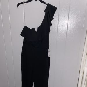 One shoulder strap jumpsuit